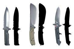 установленные ножи Стоковые Фотографии RF