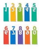 установленные номера отрезок бумаги иллюстрация вектора