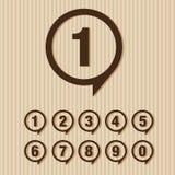 установленные номера также вектор иллюстрации притяжки corel Стоковое Изображение
