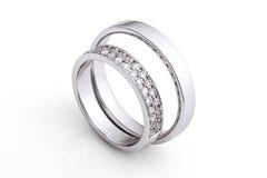 Установленные обручальные кольца Стоковое Фото