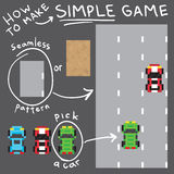 Установленные объекты вектора простой игры стиля искусства пиксела Стоковое Изображение RF