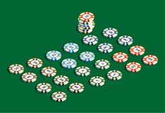 Установленные обломоки казино играя в азартные игры стоковое изображение