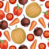 Установленные овощи делают по образцу безшовное иллюстрация штока