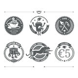 Установленные логотипы и ретро винтажные Insignias конструкция легкая редактирует элемент для того чтобы vector Стоковое фото RF