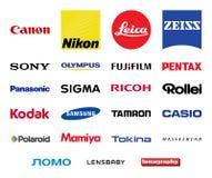 Установленные логотипы компаний фотографии вектора иллюстрация вектора