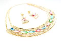 Установленные ожерелье и серьги Стоковое Изображение RF