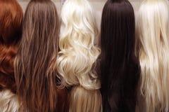 Установленные парики Стоковое Изображение