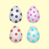 установленные пасхальные яйца Стоковые Фото