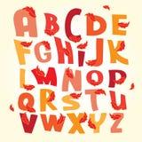 Установленные письма вектора алфавита осени Стоковые Изображения