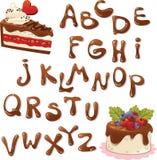 установленные письма иллюстрации шоколада алфавита Стоковое Фото