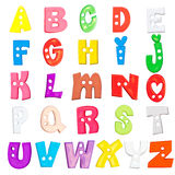 Установленные письма младенца алфавита пластичные Стоковые Изображения