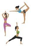 Установленные представления йоги иллюстрация штока
