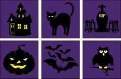 Установленные плакаты хеллоуина стоковые фотографии rf