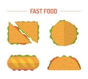 Установленные различные закуски Стоковое фото RF