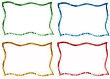 Установленные рамки и границы Стоковое фото RF