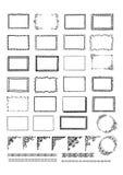 Установленные рамки нарисованные рукой иллюстрация вектора