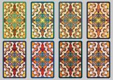 Установленные ретро карточки Стоковые Изображения