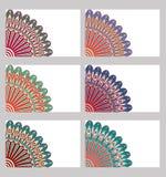 Установленные ретро карточки Стоковое фото RF
