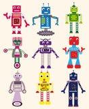 установленные роботы иллюстрация вектора