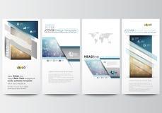Установленные рогульки, современные знамена шаблоны типа иллюстрации дела корпоративные Покройте шаблон дизайна, легкие editable, бесплатная иллюстрация