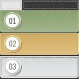 Установленные самомоднейшие знамена или шаблон infographics внутри бесплатная иллюстрация