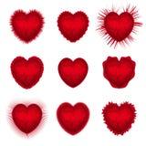 Установленные сердца валентинок Стоковые Фото