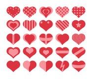 установленные сердца Стоковое Изображение RF
