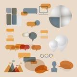 Установленные современные infographic элементы Стоковое Фото