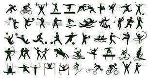 Установленные спорт лета иллюстрация вектора