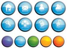 установленные средства иконы Стоковая Фотография RF