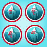 Установленные стикеры скидки айсберга Стоковое Изображение RF