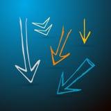 Установленные стрелки нарисованные рукой Стоковые Фотографии RF