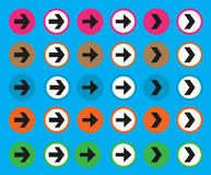 Установленные стрелки цвета стоковое фото rf