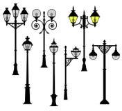 Установленные уличные светы Стоковое Изображение RF
