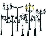 Установленные уличные светы Стоковая Фотография