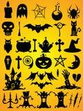 Установленные формы вектора хеллоуина Стоковая Фотография RF