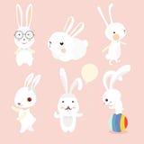 Установленные характеры кролика Стоковое Изображение RF