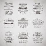 Установленные цитаты жизни бесплатная иллюстрация