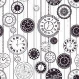 Установленные часовые циферблаты вектора винтажные Стоковое Фото