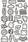Установленные части автомобиля Стоковые Фото