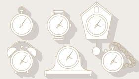 Установленные часы Стоковые Фото