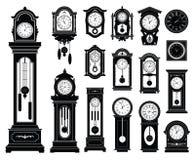 установленные часы иллюстрация штока