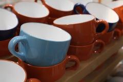 Установленные чашки чая Стоковые Изображения RF