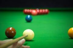 Установленные шарики снукера Стоковое фото RF