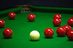Установленные шарики снукера Стоковая Фотография RF