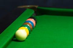 Установленные шарики снукера Стоковая Фотография