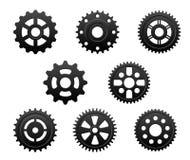 Установленные шестерни и шестерни Стоковая Фотография