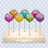 Установленные шипучки торта Стоковые Фото