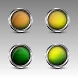 Установленные эмблемы круга Стоковое Изображение