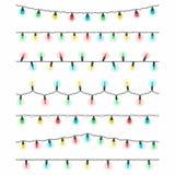 Установленные электрические лампочки рождества иллюстрация вектора